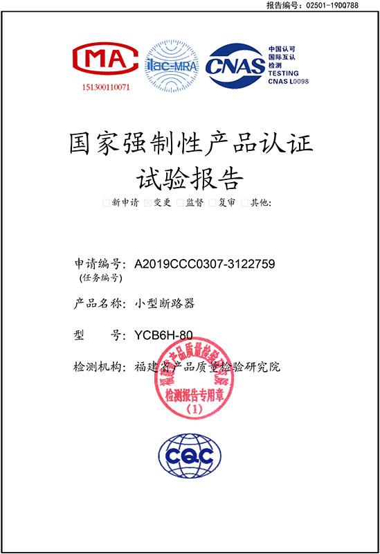 YCB6H-80实验报告