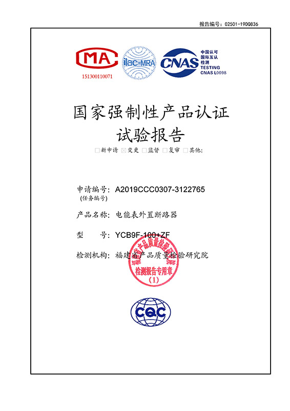 YCB9F-100+ZF实验报告