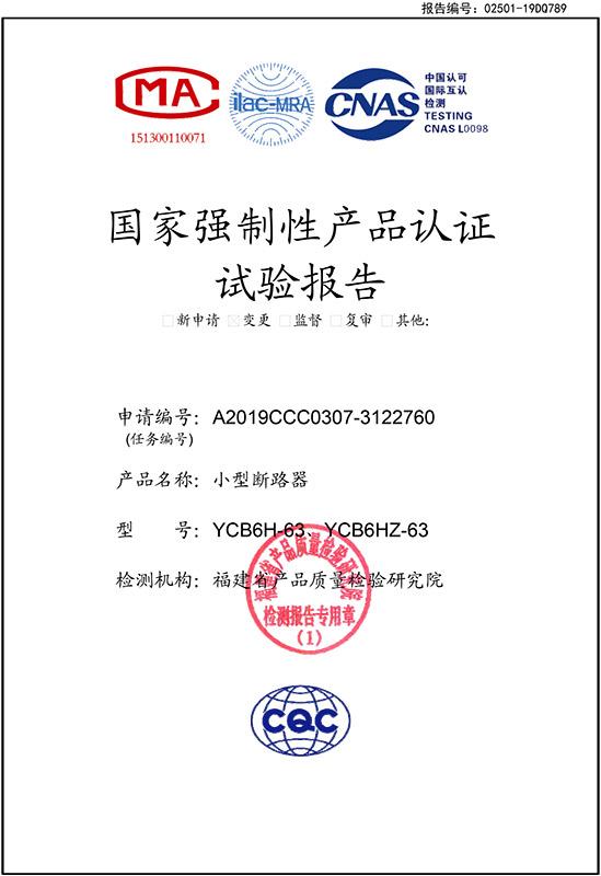 YCB6H-63实验报告