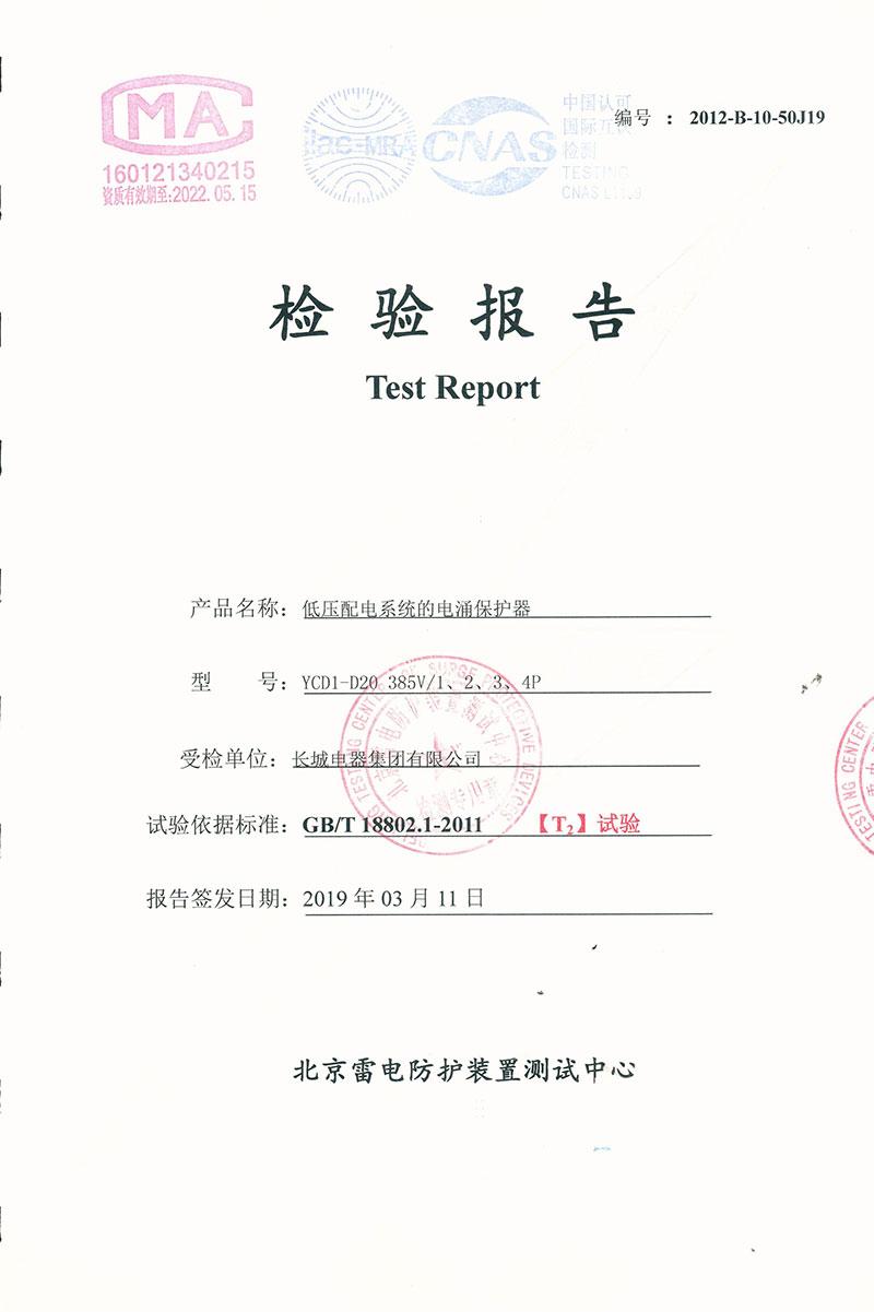 YCD1-D20委托报告