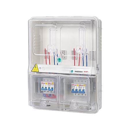 YKBX-P/B2DE型 PC盖板2表位电子表电表箱
