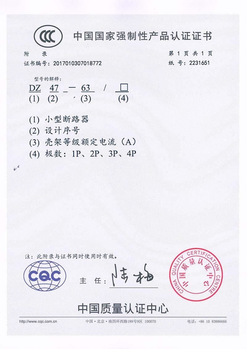 DZ47-63 CCC