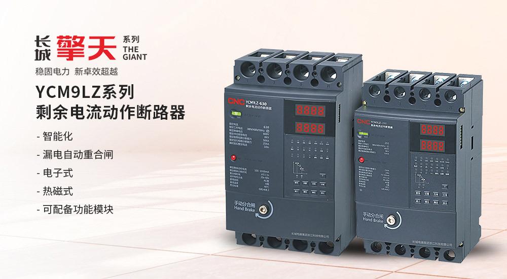YCM9LZ系列剩余电流动作断路器